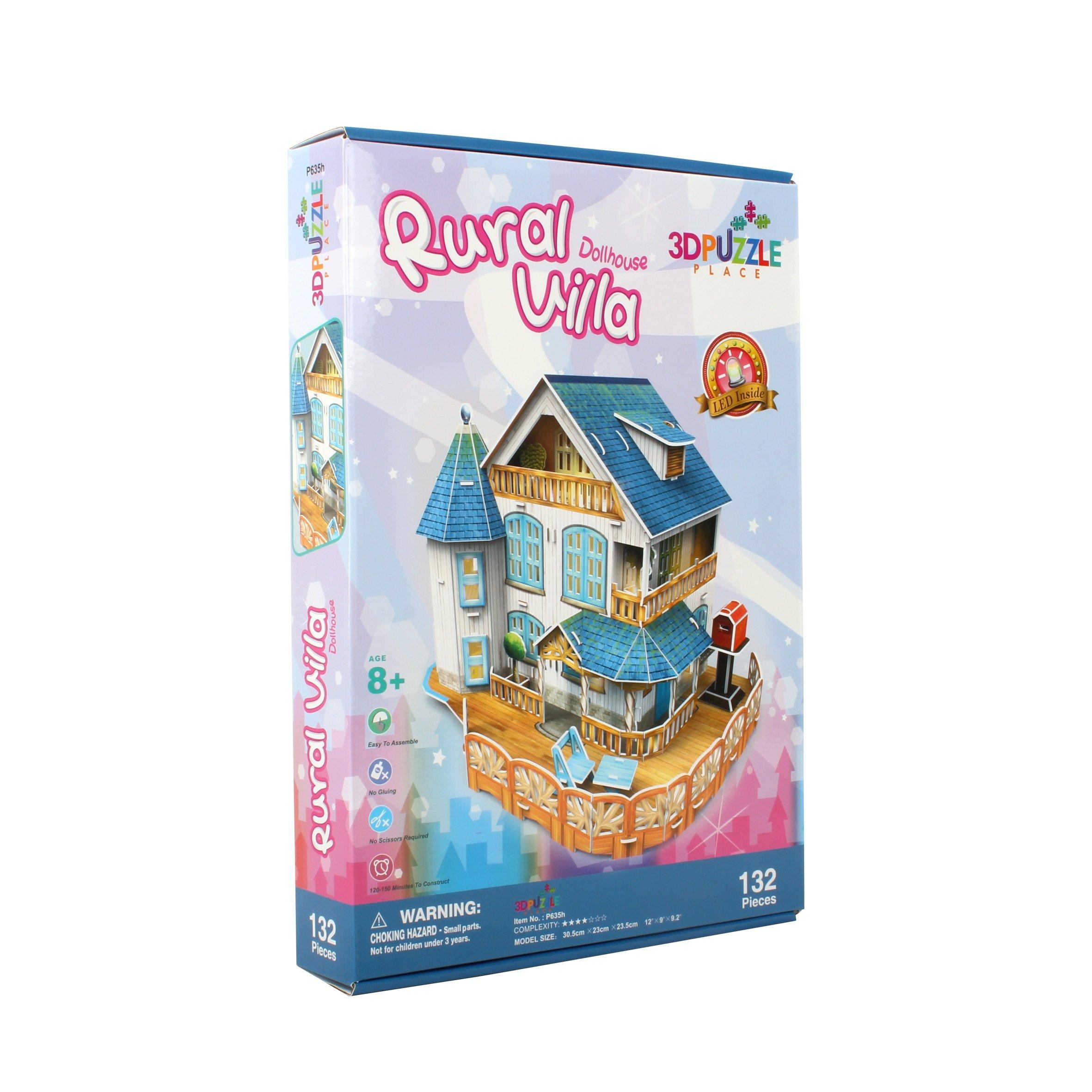 3D Puzzle Place Cubic Classic Rural Villa Dollhouse by 3D Puzzle Place (Image #2)