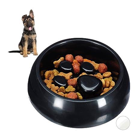 Relaxdays Anti Schling Napf, Futternapf für Hund & Katze, Langsames Fressen, Fressnapf spülmaschinenfest, versch. Farben