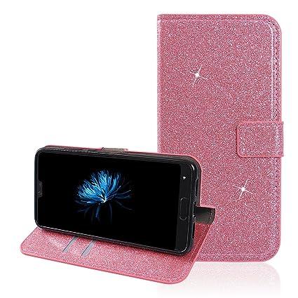Moon mood® Funda Huawei P20 con Tapas, Huawei P20 Carcasa Piel, Magnético Funda Libro de ...