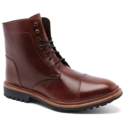 Anthony Veer Men's Ranveer Cap-Toe Rugged Lace-up Leather Boot Goodyear Welted | Boots