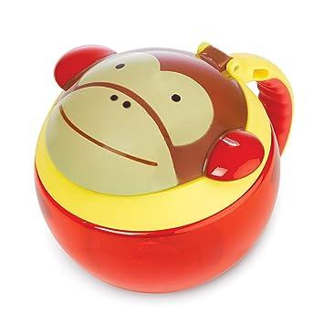 Skip Hop Zoo Snackcup mehrfarbig Aufbewahrungsbeh/älter f/ür Kinder Affe Marshall Snackbox