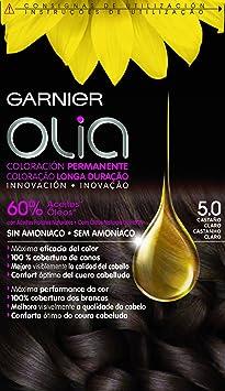 Garnier Olia - Coloración Permanente sin Amoniaco, con Aceites Florales de Origen Natural - Tono 5.0 Castaño Claro