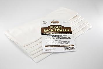 Pura Calidad harina saco toallas - 100% natural Premium algodón gamuza de plato para la cocina - 30 en X 30 en - juego de 6: Amazon.es: Hogar