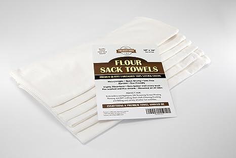 Pura Calidad harina saco toallas – 100% natural Premium algodón gamuza de plato para la