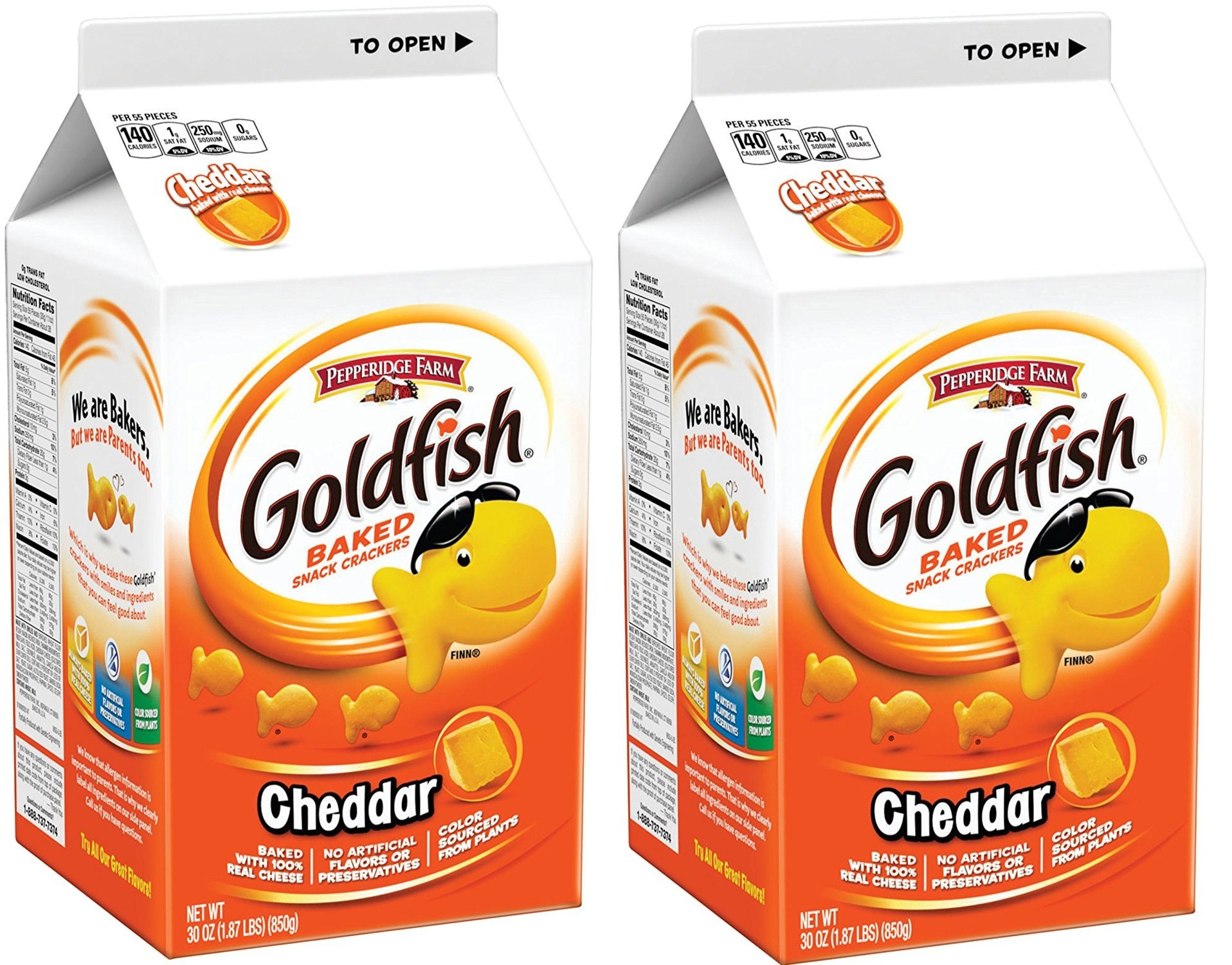 Goldfish Crackers, Cheddar, 30 Ounce 12 Boxes by Goldfish (Image #1)