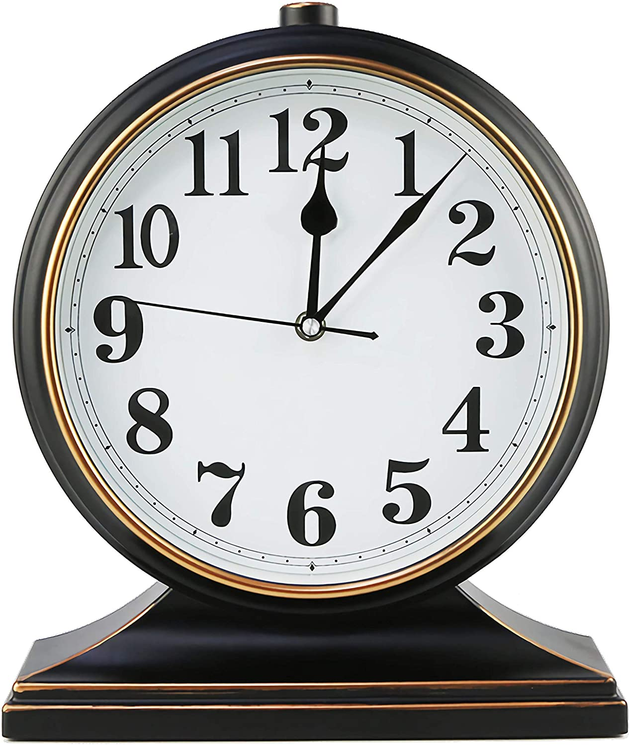 Winnie European-Style Desk Clock, Easy to Read with a 10-inch high-Definition Mirror