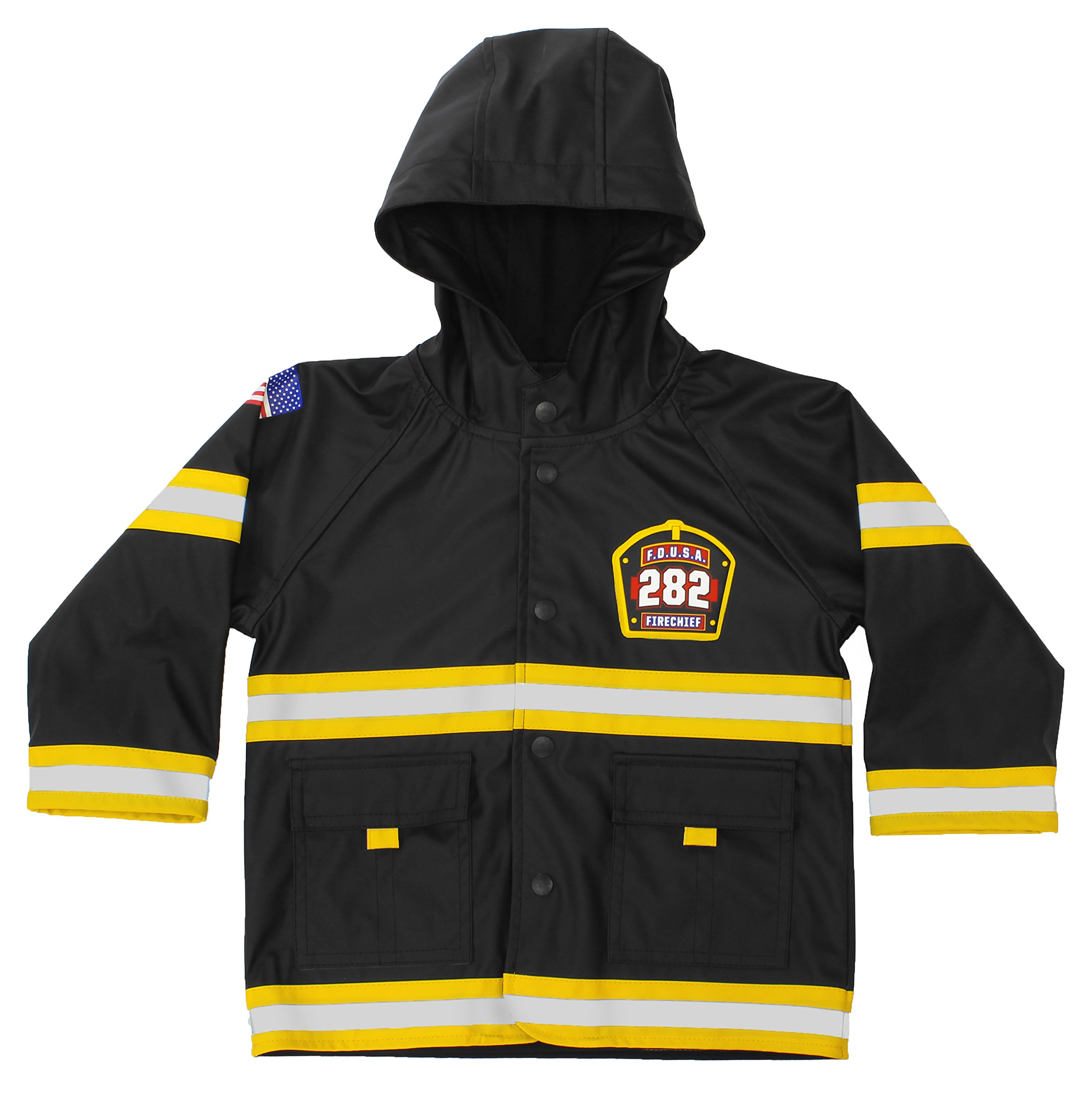 Western Chief Kids Soft Lined Character Rain Jackets, F.D.U.S.A, 4T by Western Chief