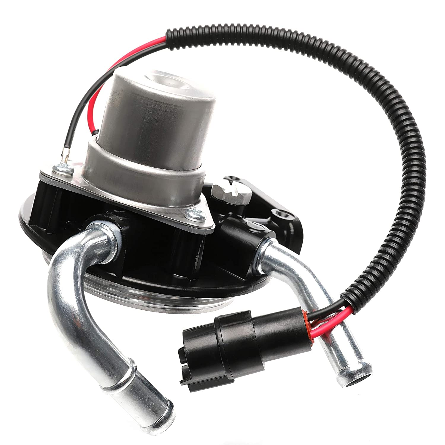 iFJF 12642623 Fuel Filter Head with Hand Fuel Pump and Heater and Aluminum Air Bleeder Screw for GM Chevrolet GMC Duramax V8 6.6L 2004-2013