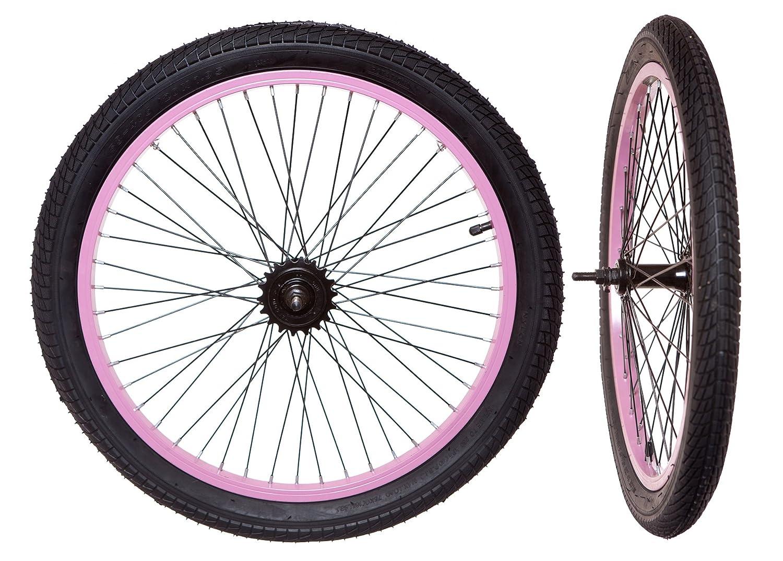 Kids BMX Rear Wheel 18t Tyre NEW Tube Bike Wheel 20 x 1.95 Blue
