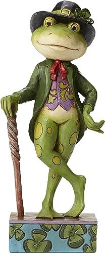 Jim Shore Heartwood Creek Irish Frog Stone Resin Figurine, 5.5