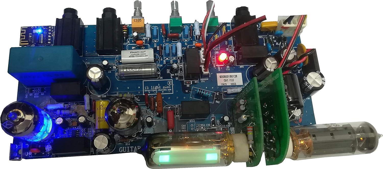 Multifunctional Multimedia Electronic Vacuum Tube Valve Electric Guitar HiFi Amplifier PCB KIT Assy for DIY Music Auduio Player Speaker