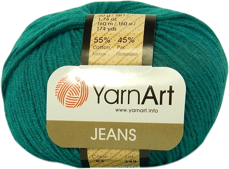 YarnArt Jeans Tropical Garn Baumwollgarn Amigurumi Babygarn Wolle 50g 160m//50g