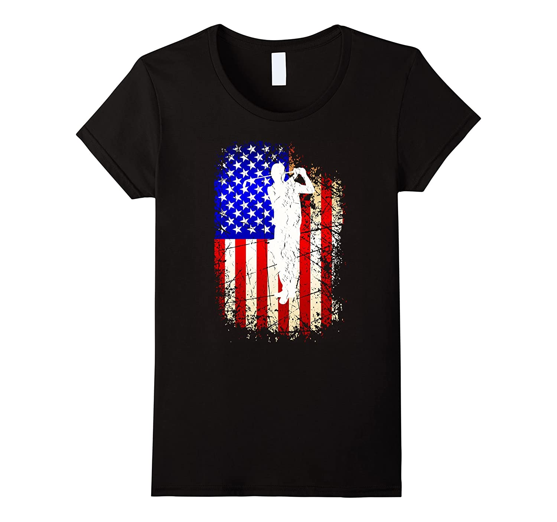 4th of July Golf Shirt Patriotic American Flag Gift T-Shirt