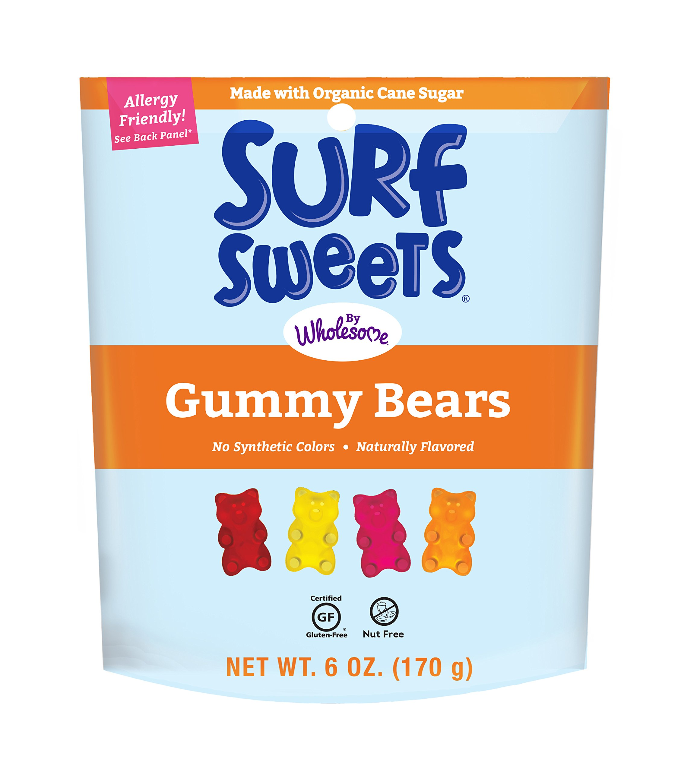 Surf Sweets Gummy Bears, 6.0 oz, 6 Count by Surf Sweets (Image #1)