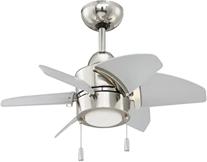 Craftmade outdoor ceiling fan with led light ppl24pln6 propel 24 craftmade outdoor ceiling fan with led light ppl24pln6 propel 24 inch for patio polished nickel aloadofball Gallery