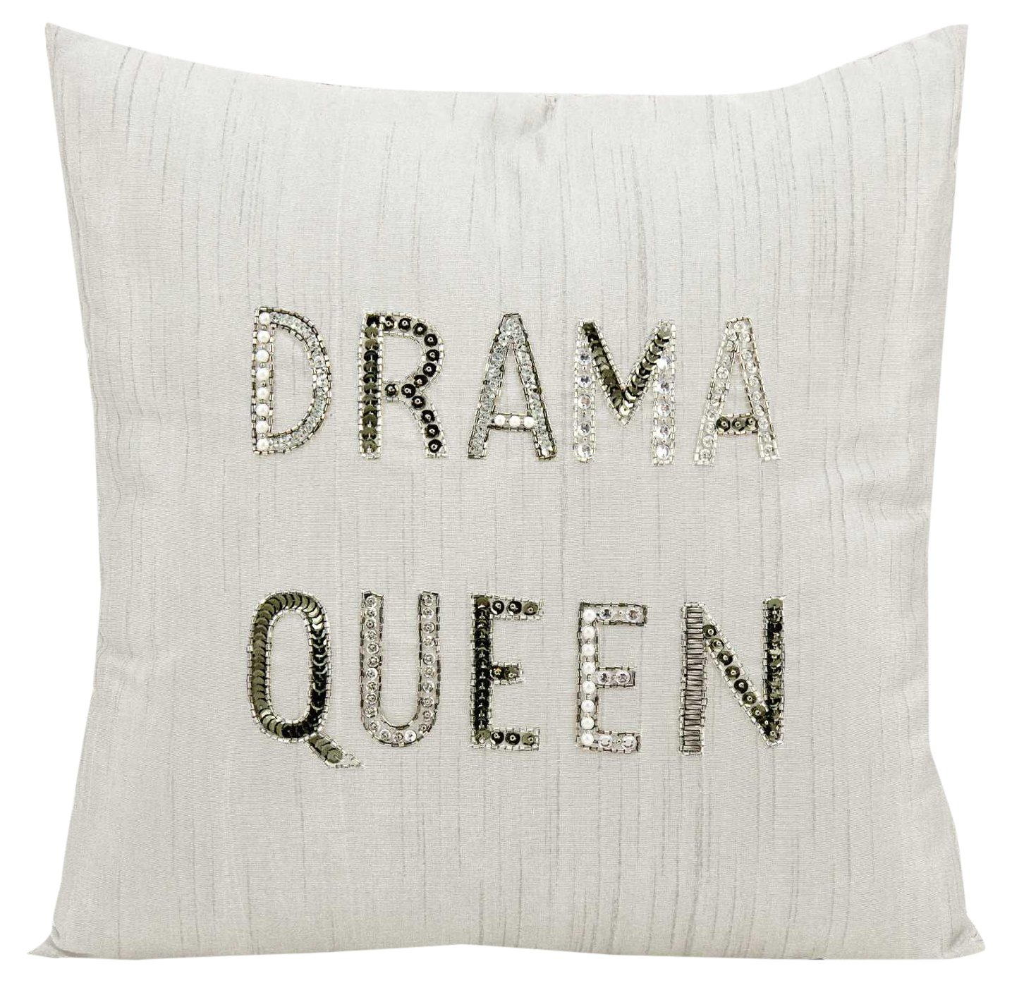 Nourison Mina Victory E0175 Mina Victory Drama Queen Champagne Decorative Pillow 18 x 18
