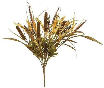 "pack of 12 46/"" Artificial Glittered Cattail Grass Stem Tan"