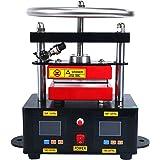 "YaeTek Heat Press Machine Hand Crank Duel Heated Plates Manual Heat Transfer - Dual Element Heating Plates 110V 2.4""X4.7"" (6X12CM)"
