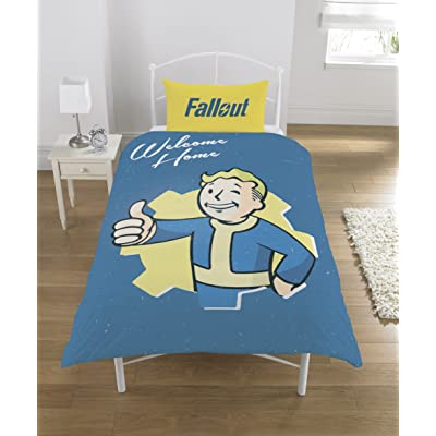 Fallout Vault Boy UK Single/US Twin Unfilled Duvet Cover Set: Home & Kitchen