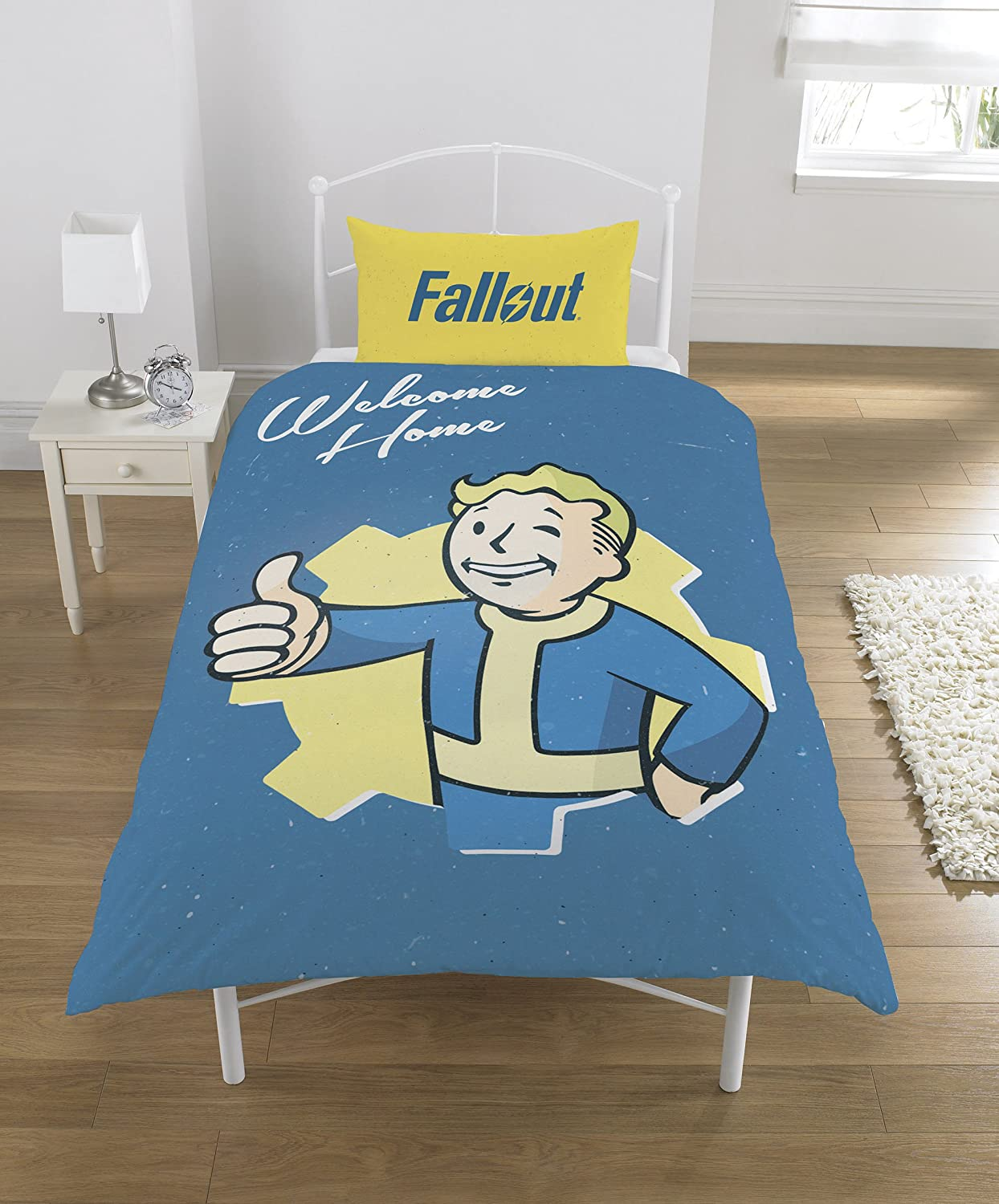 FALLOUT Duvet Set, Polycotton, Multi, Single Dreamtex Ltd SP1-FLT-VTB-12