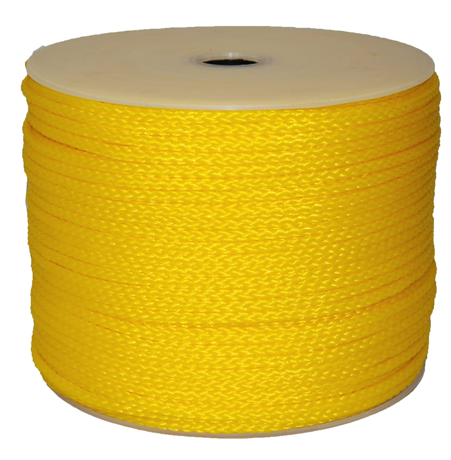 Evans Cordage Co. Yellow T.W T.W Evans Cordage 27-402 5//16-Inch by 500-Feet Hollow Braid Polypro Rope