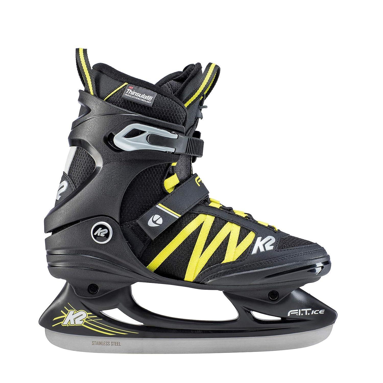 Patines de Hielo Color Negro y Azul Talla 40-25D0302.1.1.075 - Patines en l/ínea para Hombre Ice Pro K2 Skates F.I.T