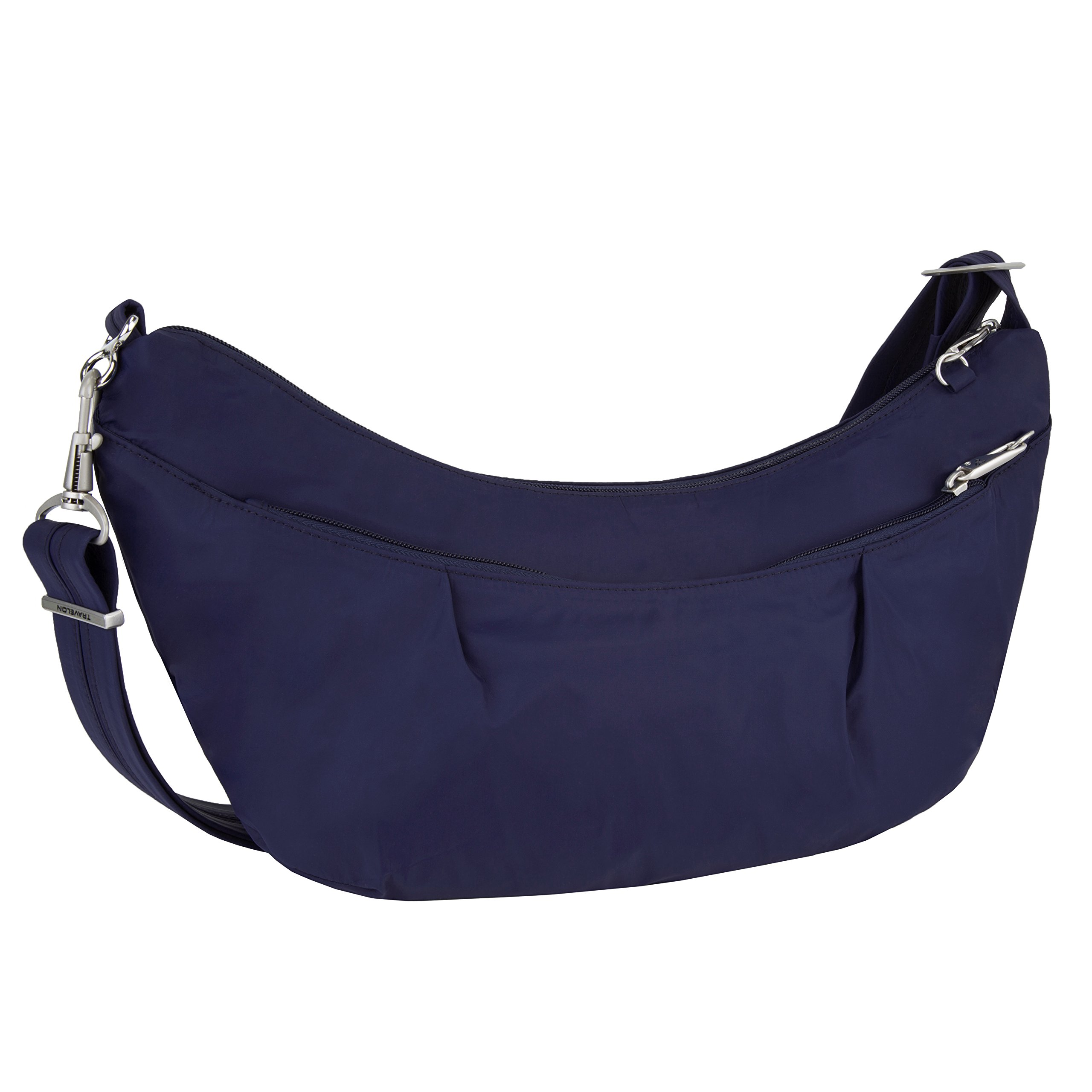 Travelon Women's Classic Light Sling-Style Hobo Travel Purse, Lush Blue, One Size