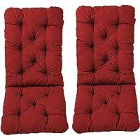 Ambientehome Juego de 2Cojines, Aprox. 120x 50x 8cm, Respaldo Aprox. 70cm, Cojines Acolchados, Rojo