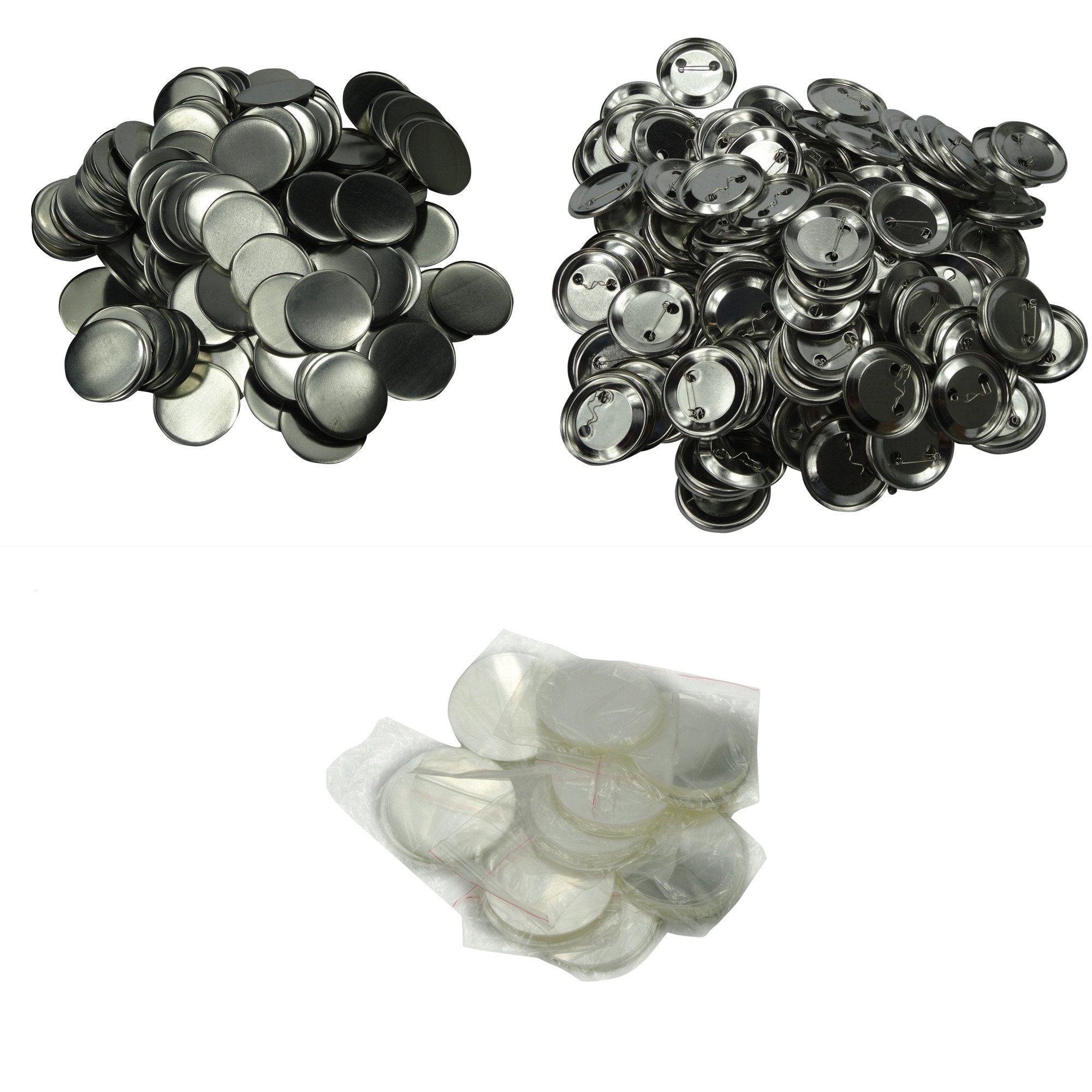 DAWEI 500Pcs 1'' 25mm Blank Badge & Button Parts for Badge Maker Machine by DAWEI