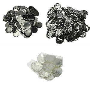 "DAWEI 500Pcs 1"" 25mm Blank Badge & Button Parts for Badge Maker Machine"