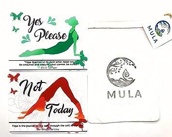 Mula - Tarjetas de consentimiento para Yoga (15 Unidades ...