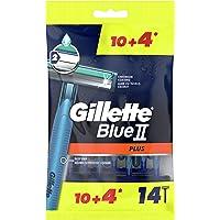 Gillette Blue II Plus Men's Disposable Razors, 14 Count