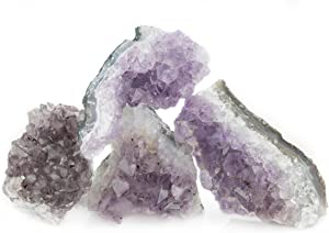 Healing Crystals Love, Amethyst Geode Cluster for Home Decor and Reiki 2lb
