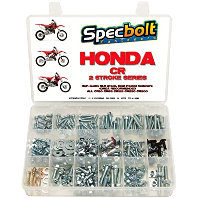 250pc Specbolt Honda CR Two Stroke Bolt Kit for Maintenance & Restoration of MX Dirtbike OEM Spec Fastener CR80 CR85 CR125 CR250 CR500: Industrial & Scientific