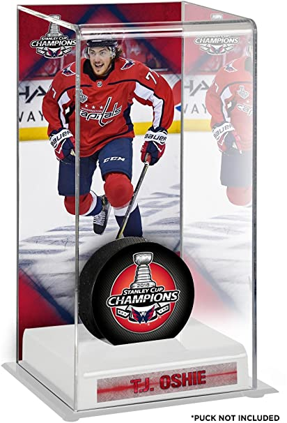 T.J. Oshie Washington Capitals 2018 Stanley Cup Champions Logo Deluxe Tall  Hockey Puck Case - Hockey 1dccbb3dc