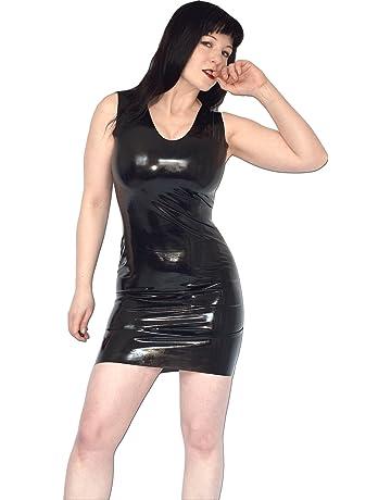 80fd38867873c Leder & Latex Kleider für Damen   Amazon.de