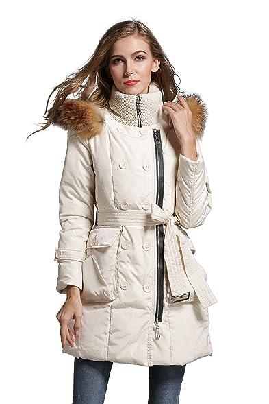 Aini Savoie Women's Down Jackets Stylish Down Coats Parka - Beige ...