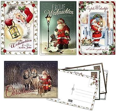 Grußkarten Weihnachten 6 St Postkarten Weihnachtsgrüße NEU Weihnachtspostkarten