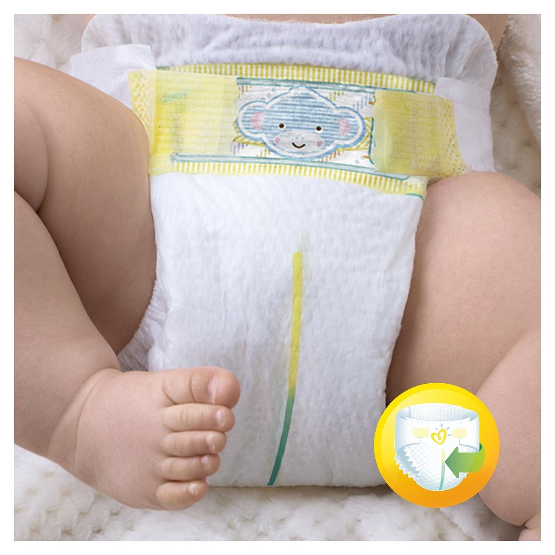 Pampers Premium Protection New Baby Pañales, talla 2 (3 - 6 kg), 1 unidad (1 paquete de 54 unidades).: Amazon.es: Salud y cuidado personal