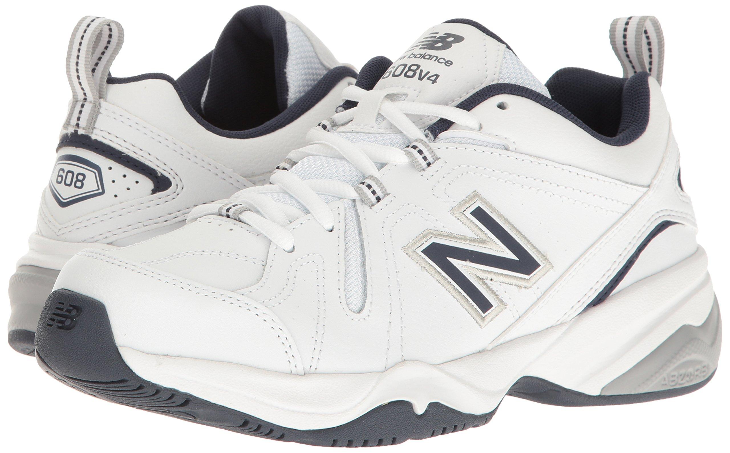 New Balance Men's MX608v4 Training Shoe, White/Navy, 7.5 4E US by New Balance (Image #6)