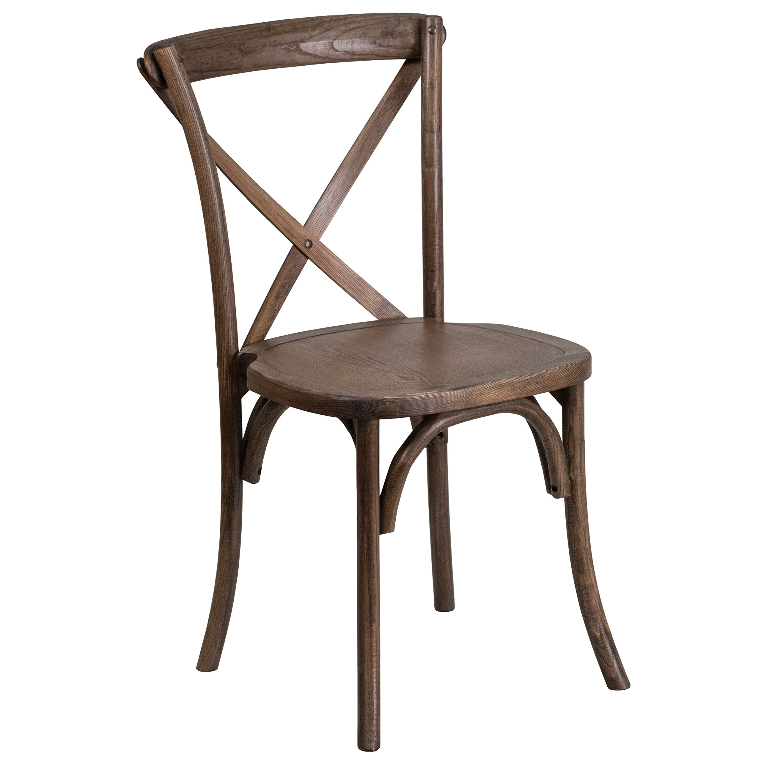 Flash Furniture HERCULES Series Stackable Early American Wood Cross Back Chair by Flash Furniture