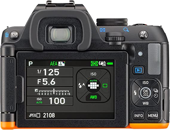 Pentax K-S2 SLR body kit black/orange product image 11