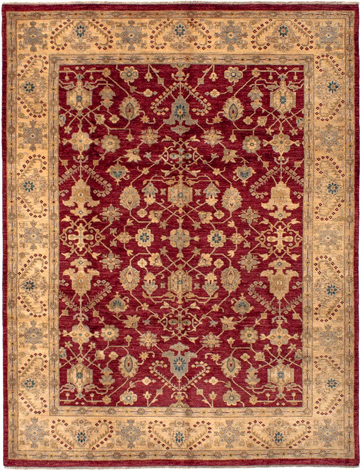 Amazon Com Ecarpet Gallery Large Area Rug For Living Room Bedroom Hand Knotted Wool Rug Chobi Finest Bordered Red Rug 8 0 X 10 5 286200 Furniture Decor