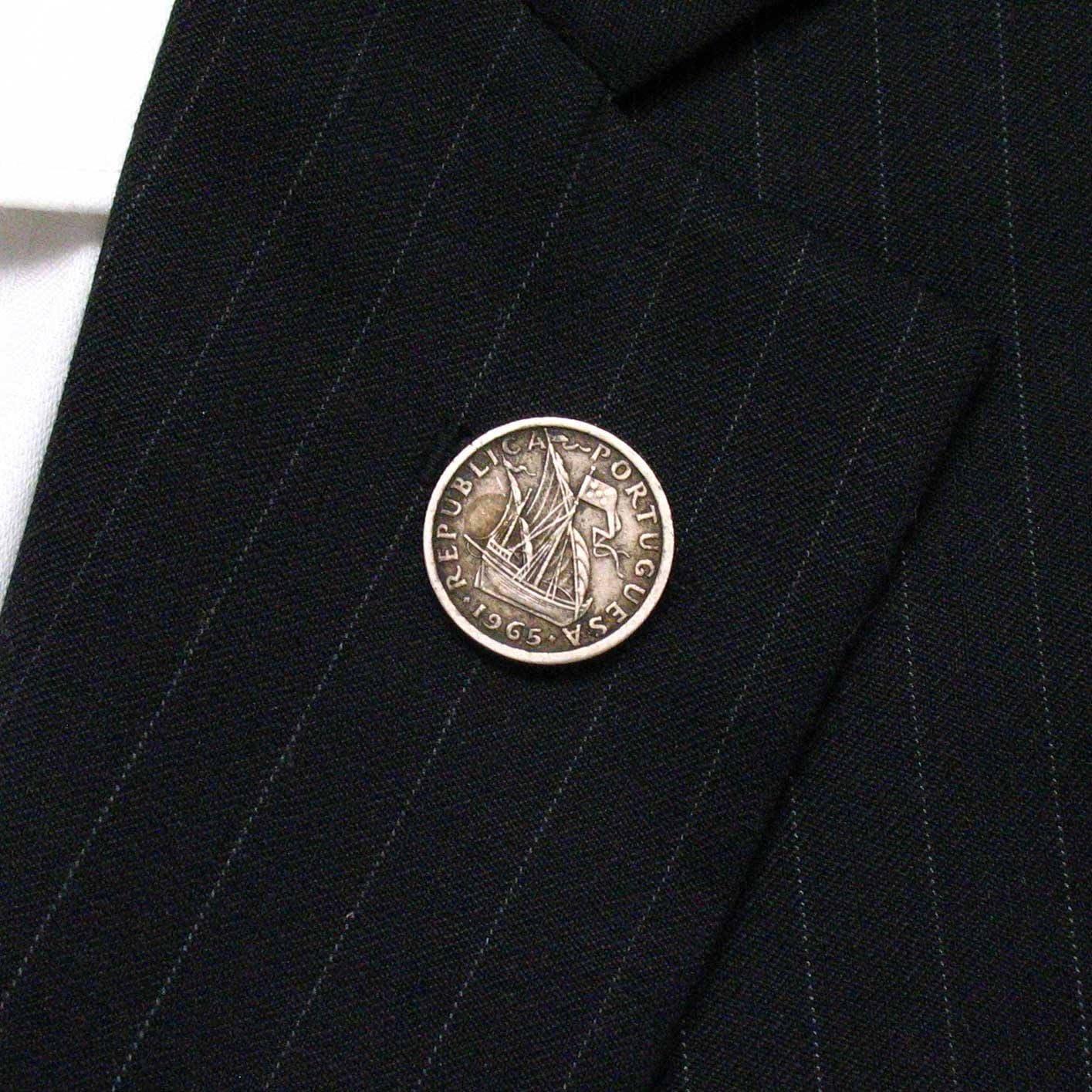 Portugal moneda Tie Tack – Pin bandera Lisboa argave Terno ...