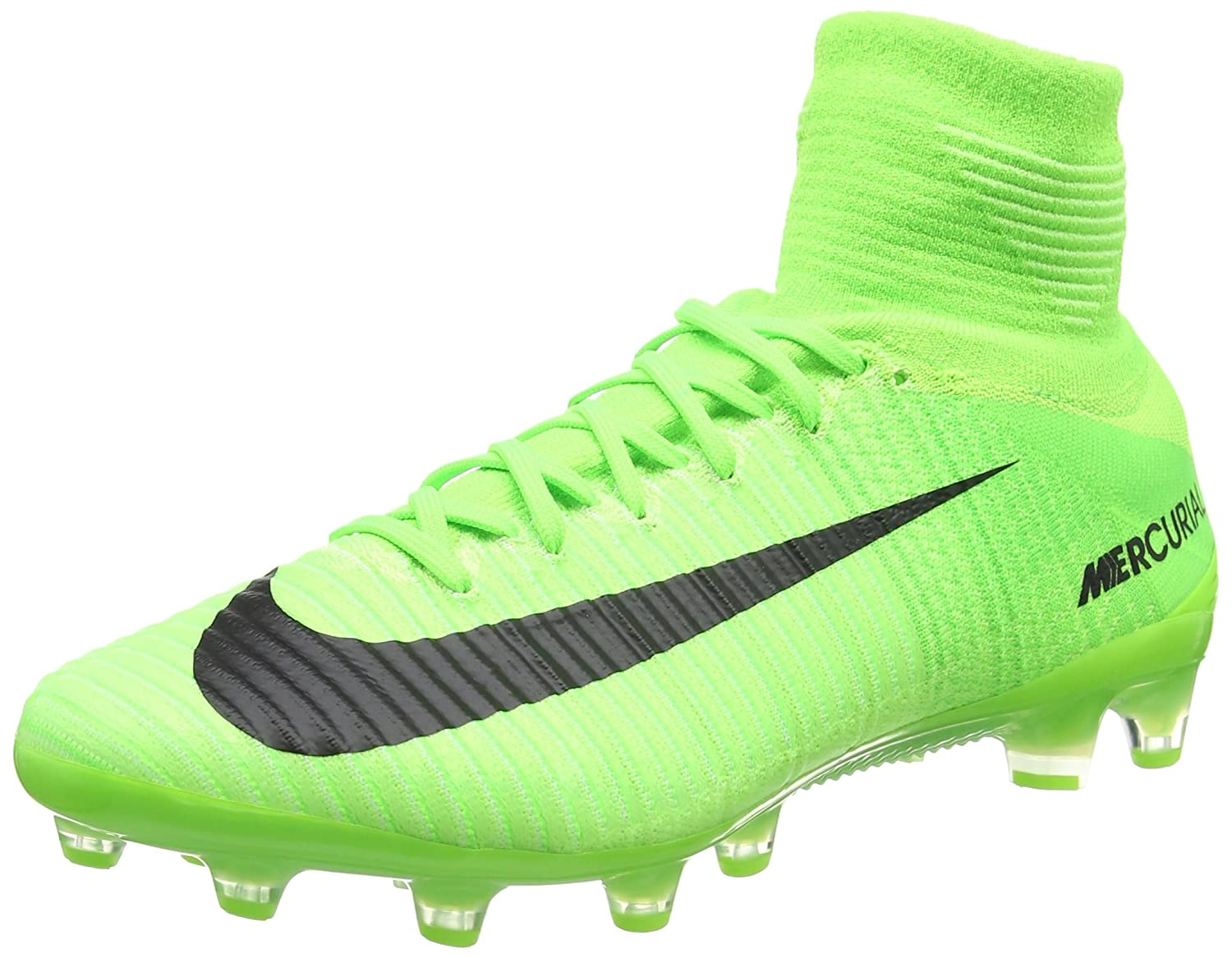 quality design 213d9 6b878 Amazon.com   Nike Men s Mercurial Superfly V FG Electric Green Black Ghost Green  Soccer Shoes - 6A   Soccer