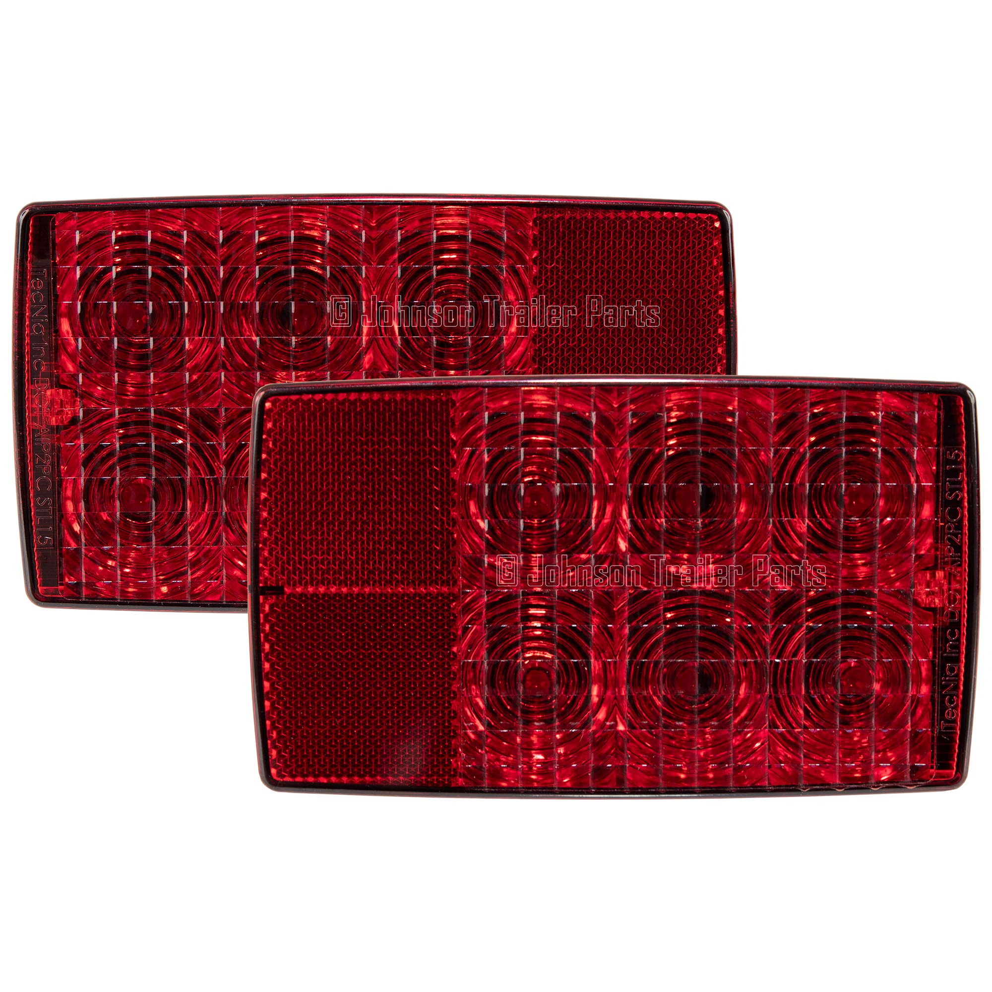 6'' TecNiq Submersible LED Stop -Turn -Tail Light Set For Trucks, Trailers, RVs with License Plate Light by TecNiq, Inc