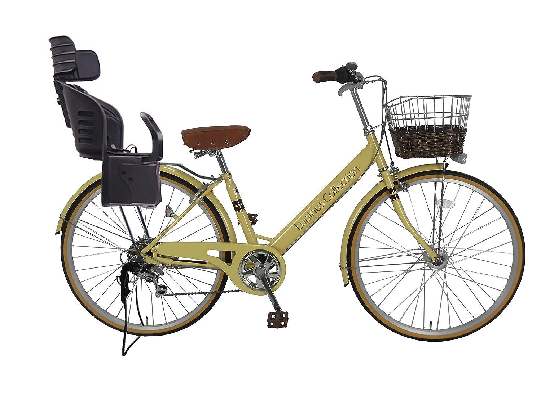 新入荷 Lupinusルピナス アイボリー 自転車 26インチ B0798H96M1 LP-266VA-KNRJ-BK シティサイクル Vフレーム Vフレーム 籐風カゴ オートライト 樹脂製後子乗せブラック アイボリー B0798H96M1, かごや:87b5dc28 --- greaterbayx.co