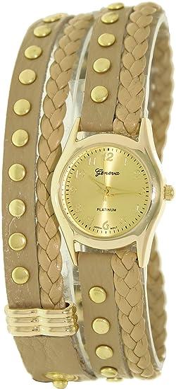 Geneva Platinum 9618.Gold.Beige Mujeres Relojes