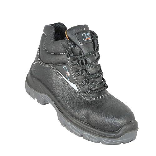 Paso Opsial de Trabajo Botas de Seguridad S3 SRC Zapatos de Negro ...