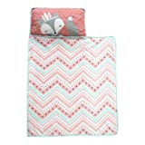 Amazon Price History for:Lambs & Ivy Little Spirit Nap Mat, Coral/Blue/White